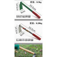 小型灵活铁锄头农用 种菜 锻打 多功能开垦三件迷你园林小巧实用