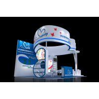 婚博会展台设计 广州美容婚纱展会 圣婕妮展台3D模型