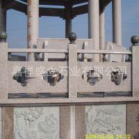 专业制作公园花草雕花栏杆 桥面楼梯花岗岩安全扶手