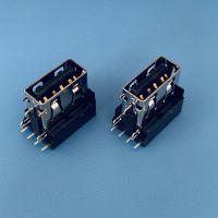 联想6PIN大电流USB母座/侧插/侧立式插板DIP/直边无导位/三脚插