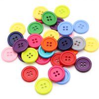 供应彩色纽扣/塑料纽扣四眼 细边 宽边 树脂钮 儿童手工diy 衣扣
