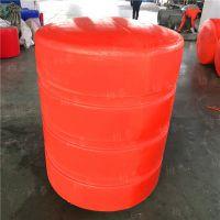 整体浮筒拦污和组合式挂网浮筒对比