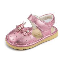 六叶雨女宝宝真皮童鞋学步鞋防滑软底夏季凉鞋1-2-3-4岁女童皮鞋