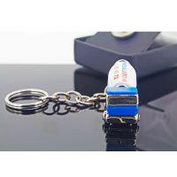 3D立体创意水泥车形状钥匙扣巴士火车高铁地铁钥匙扣挂件火机摆件