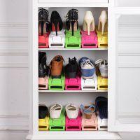 2017创意三代双层一体式可调节鞋架 简易塑料 鞋架双层收纳鞋托