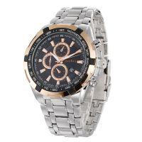 厂家直销正品牌手表时尚商务男士手表单日历防水钢带男款石英表