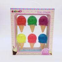 甜筒水晶泥彩泥橡皮鼻涕泥韩国糖果蝴蝶结透明粘土史莱姆吹泡泡