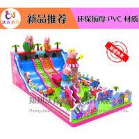 安徽蚌埠集会经营充气城堡,儿童玩的充气滑梯卡通形象沃森游乐厂家直销