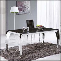 批发时尚简约不锈钢大理石餐桌餐厅桌子 佛山热销家具餐台椅