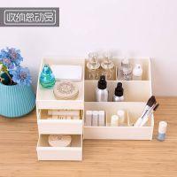 抽屉式收纳盒桌面放桌上宿舍护肤整理的家用简约床头置物架