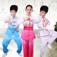 儿童武术服长袖练功服套装男童太极服幼儿练功舞六一演出服