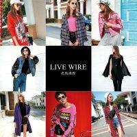 欧美摩登潮牌亮点国际19冬品牌女装折扣大衣外套走份直播货源