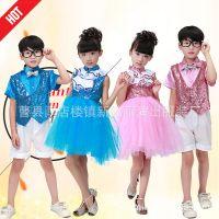 新款儿童合唱服中小学生舞蹈演出服装幼儿诗歌朗诵男女生表演服
