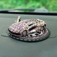 镶钻汽车模型车模汽车香水女车内饰品摆件车载香水座车上用品装饰