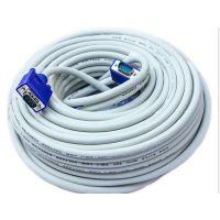 VGA3+6M/M 白色vga线显示器连接线投影仪连接线RGB Cable厂家定制