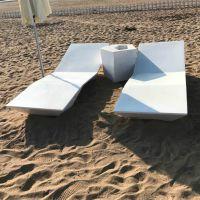 玻璃钢沙滩椅 沙滩玻璃钢休闲躺椅