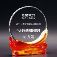 厂家亚克力冻水晶冻奖牌授权牌有机玻璃金箔铜牌铝沙相片纸制作