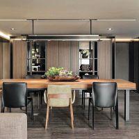 餐桌美式铁艺实木小户型餐桌椅 长方形饭桌家用吃饭桌子餐厅桌椅
