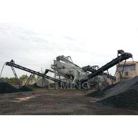 建筑垃圾混凝土块处理生产线设备 再生石子料加工移动破碎站