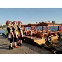 内蒙古呼和浩特哪里有4.8米仿古画舫船/电动木船/小型旅游观光船厂家