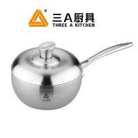 三A厨具 不锈钢16cm奶锅 无涂层不粘 出厂价批发