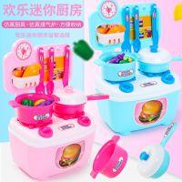 仿真厨房儿童厨具 迷你小厨房儿童做饭餐具过家家玩具套装