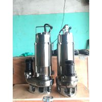 小型全不锈钢潜水泵WQ10-10-0.75耐腐蚀泵