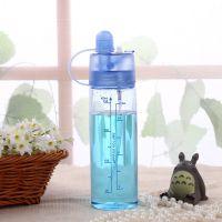 新款塑料儿童水壶带吸管便携水瓶 可爱学生卡通水杯批发户外杯子
