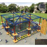 定制户外拓展大型爬网 体能闯关训练 亲子乐园探险训练 公园景区拓展设施