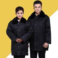 保安服冬装棉服加厚 多功能保安大衣加长 冬季保安执勤工作服棉衣