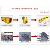 厂家直销日产300-500吨砂石料生产线设备配置方案