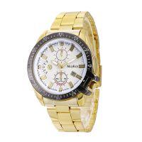 Ebay爆款男士钢带手表高档单日历商务腕表男合金石英腕表现货批发