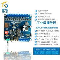 12/24V工业级语音模块,多路音频播放板,安全语音播报板 BY-F810