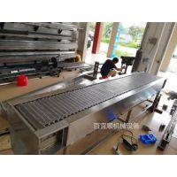 厂家百宜順直销定做链板输送机不锈钢链板流水线链板链板传送带