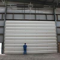 快速分段全翻型电动工业透明滑升门旭日环照设计研发