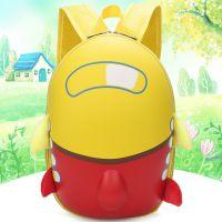 创意新款儿童书包小飞机卡通可爱蛋壳包幼儿园双肩背书包 批发定