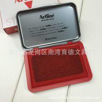 批发日本正品旗牌artline雅丽0号EHJ-2 红色 中号快干印台 印泥盒