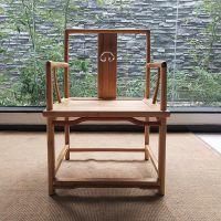 老榆木圈椅三件套中式单人椅子新中式实木禅意茶椅仿古太师椅餐椅