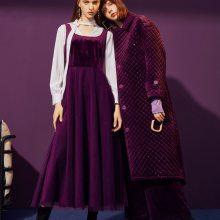 女式风衣大衣羽绒服毛衣上面呢单面呢连衣裙 上海品牌女装昆诗兰货源批发