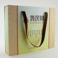 杭州包装厂家定制养生礼品口服液包装礼盒海绵内托配透明硫酸纸