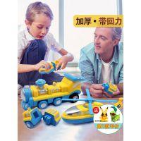 加厚百变海陆空拼装玩具磁性工程车磁力积木磁铁飞机3-4-6岁男孩