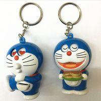 转眼哆啦A梦叮当机器猫包包挂饰钥匙扣钥匙圈会转眼睛5个表情