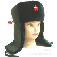 中老年人冬季仿寒 保暖 扶耳 棉毛雷锋帽  男女毛线帽批发