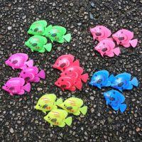 热销迷你热带彩色鱼塑料软胶小鱼 鱼缸装饰漂浮鱼小孩玩具道具