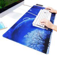 jsh韩国加厚防滑电脑游戏鼠标垫超大号家用办公桌垫宿舍纯色写字