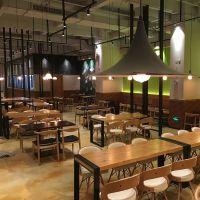 复古工业风咖啡厅西餐厅餐饮店桌椅组合