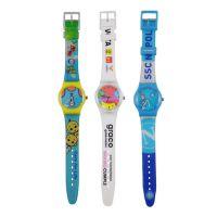 手表厂加工定制spike新款彩色印刷塑胶表壳石英广告手表