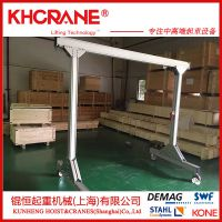 锟恒定制可拆卸小型龙门吊架 移动手推起重龙门架 升降式行车天车龙门架