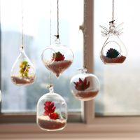 创意悬挂花瓶玻璃仿真多肉盆幼儿园橱窗阳台空中吊饰家居装饰挂件