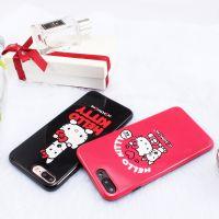 KT猫光面hellokitty凯蒂猫iPhone6苹果7PLUS全包硅胶保护壳手机壳